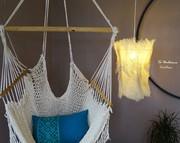 luminaire fibre de palmier création piéce unique